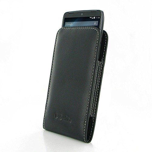 For Motorola DROID Turbo XT1254 PDair Leather Vertical Pouch Case Cover Black