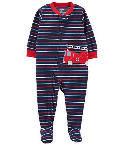 Carter's Baby Boy's One Piece Fleece Pajamas 12M-5T, Fire Rescue, 4T - Farm Primrose