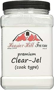 Hoosier Hill Farm Clear Jel Thickener (cook type) large bulk 2 3/4 lb.Jar