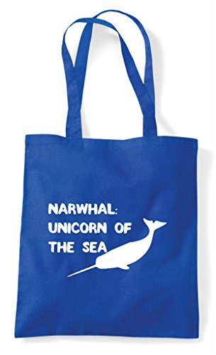 Blue The Royal Shopper Sea Narwhal Unicorn Of Bag Tote Funny 4wxfz17q