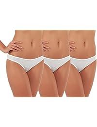 3 Pack Women's Bikini Panties, 100% Cotton Underwear,...