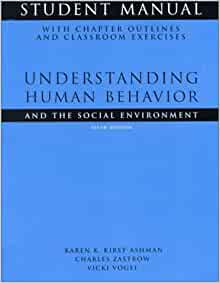 understanding human behavior and the social environment chapter 1 4 zastrow kirst ashman 2016 The main objective of social work is to facilitate positive changes in individuals, families, groups, organizations, and communities the first step in this change process is accurate assessment -- and that's the primary focus of understanding human behavior and the social environment.