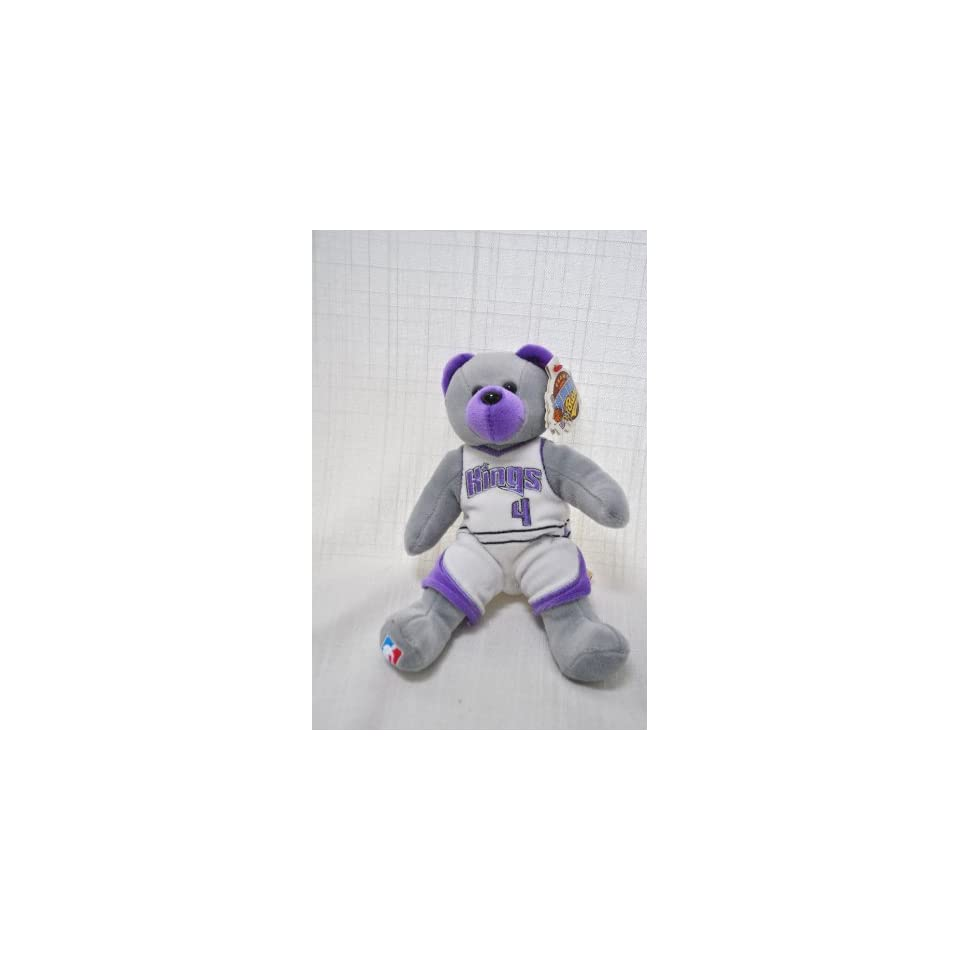 Sacramento Kings Player Uniform #4 Chris Webber Nba Official Plush Teddy Bear