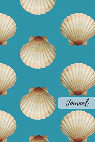 Journal: 6 x 9in 100 Page Seashell Notebook, Diary, Tracker, Workbook