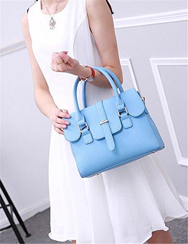 La mujer Xinmaoyuan Bolsos Bolso de mujer Simple Candy Portable Bolso pequeño paquete lateral, luz azul Luz azul
