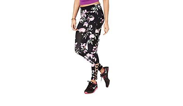 Material Girl Active Juniors Spring Bloom Caged Leggings