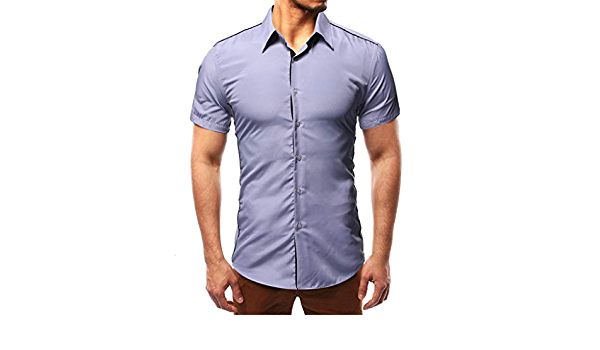 Camisa para Hombre, diseño de Estilo de Camino, Manga Corta ...