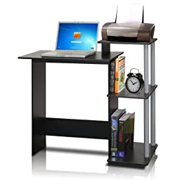 Furinno 11192BK/GY Efficient Computer Desk, Black/Grey
