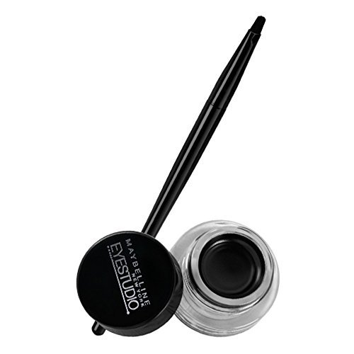Maybelline Makeup Eyestudio Lasting Drama Gel Eye Liner, Blackest Black, Waterproof, 0.106 oz