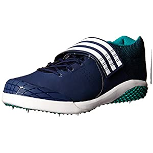 Adidas Performance Adizero Javelin Running Shoe,Collegiate Navy/White/Green,15 M US