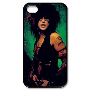 Motley Crue and nikki sixx Hard back cover case fit for Apple Iphone 4 4s