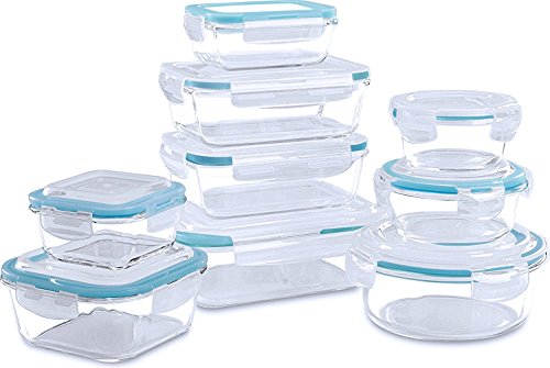 Glass Food Storage Container Set - 18 Pieces ...