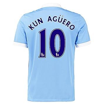 Kun Agüero  10 Camiseta 1ra FC Manchester City De Manga Corta 2015 (2XL)   Amazon.es  Deportes y aire libre 16a8aecedfd