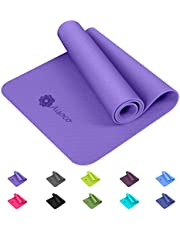 Aisoco Premium TPE Yoga Mat Pilates Mat,Exercise and Fitness mat- Eco Friendly,Non-slip - With Yoga Mat Carry Bag