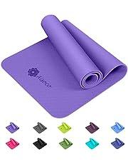 Aisoco Premium TPE Tapis de Yoga -Tapis d'exercice Fitness -Tapis de Pilates , Poids léger,Antidérapant, Respectueux de l'environnement,Sécurité de la Peau-avec Tapis de Yoga Sac de Transport