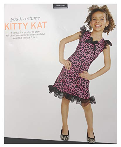 Hyde & Eek! Boutique - Girls' Kitty Cat Pink Leopard Print Dress with Tulle Halloween Costume, Medium (6-8) -