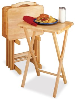 5pc Tv Table Set Rectangular Includes 4 Tables With One Stand