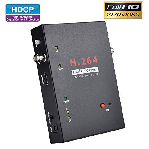 SDI Capture Card HDMI 4K Grabber Record HD Video Streaming Signal to HDD SSD SD USB Drive 3G-SDI HD-SDI Pass-through 1080P Game Dongle Device for Xbox One Nintendo Switch PS4 DSLR Converter Standalone (Best Capture Card For Streaming Pc)