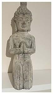 Efecto de piedra Buda arrodillado–Estatua Escultura de jardín a prueba de heladas