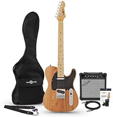 Guitarra Electrica Knoxville + Pack de Ampli de 15W - Natural ...