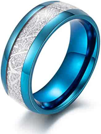 Accessories Jajafook Mens Stainless Steel Dome Ring With Carbon