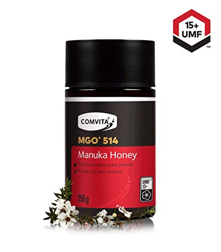 Comvita Certified UMF 15+ (MGO 514+) Raw Manuka Honey I New Zealand's #1 Manuka Brand I Authentic, Wild, Unpasteurized, Non-GMO Superfood I Super Premium Grade I 8.8 oz