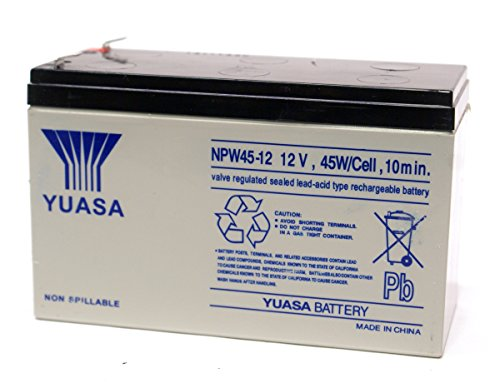 YUASA NPW45-12 12V 45W/Cell 9ah Lead Acid Valve Replacement Battery For Dell 1000W H914N R464R GHMPG Tower UPS Uninterrupted Power Supply (UPS)