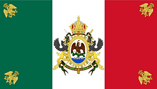 magFlags XL Flag Second Mexican Empire | landscape flag | 2.16m² | 23sqft | 120x180cm | 4x6ft – 100% Made in Germany – long lasting outdoor flag
