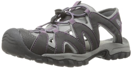 Northside Women's Corona Sandal,Black/Purple,7 M US
