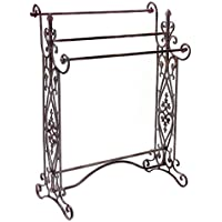 35 Charismatic Quilt/Towel Rack with Ornate Flourish Accents