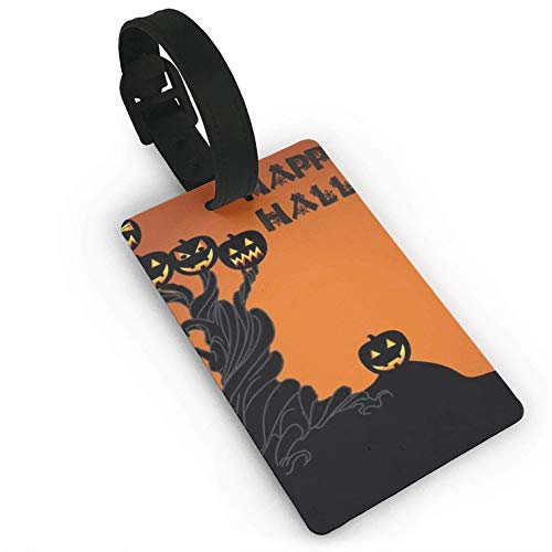 Halloween Pumpkin Tree,Suitcase,Travel Accessories Baggage Name Tags Travel Luggage Tag ID Identification Labels