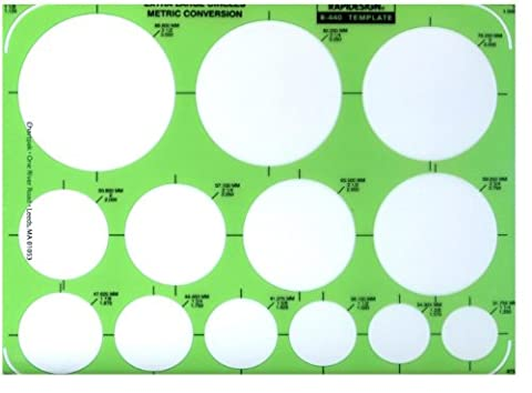 Rapidesign Extra Large Circles Template, 1 Each (R440) - Large Circle