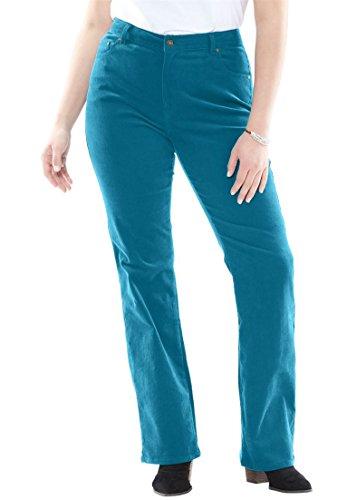 Women's Plus Size Bootcut Stretch Corduroy Jean Deep Sea Blue,34 - Jean Stretch Corduroy
