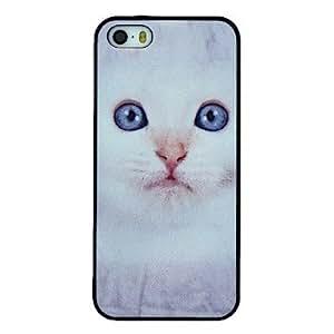 HC- rosa rosa patrón de gato blanco pc duro caso de la cubierta para el iphone 5 / 5s