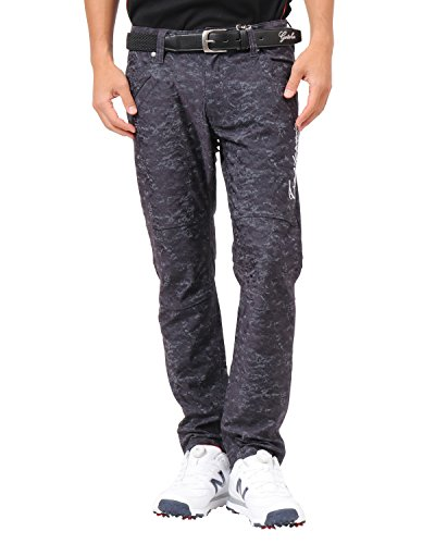 [ガッチャ ゴルフ] GOTCHA GOLF パンツ 撥水 スケッチ カモ ストレッチ ジャカード パンツ 182GG1804 ブラック XXXLサイズ