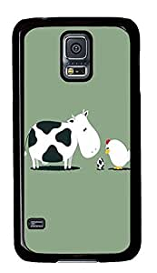 Samsung Galaxy S5 slim covers Cow and Chicken Egg FunnyPC Black Custom Samsung Galaxy S5 Case Cover
