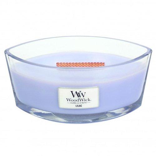Woodwick HeartWick Flame Oval Lilla Candela Profumata in Vaso di Vetro, Blu, 11.6x18.9x8.8 cm Virginia Candle Company 76066