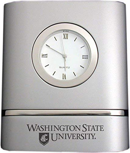 LXG, Inc. Washington State University- Two-Toned Desk Clock -Silver