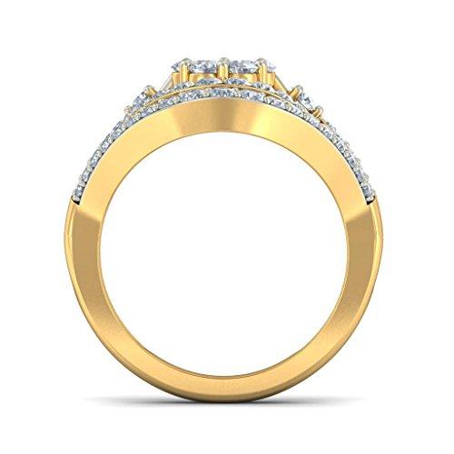 Or jaune 18K, 1.67carat Diamant Blanc (IJ   SI) en diamant