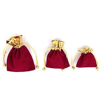Amazon.com: Anillos de joyería de terciopelo Con cordón de ...
