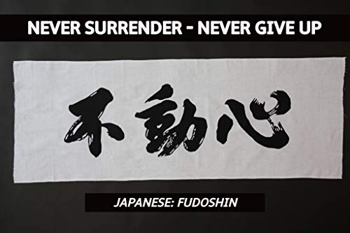 Japanese Inspirational Headbands - FUDOSHIN : Immovable Spirit for Yoga, Workouts, Karate, Judo, Martial Arts, All Challenges, Team Building ()