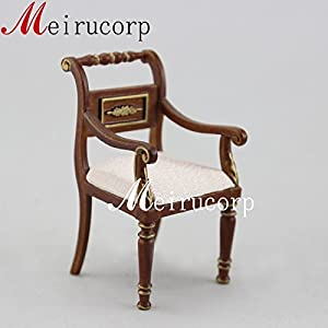 Miniature Furniture 1/12scale Well Made Handcrafted Wooden Chair for Dollhouse