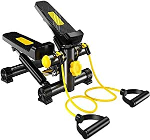Marshal Fitness Step Air Climber Stepper Aerobic Fitness Exercise Machine with Resistance Band-712-D
