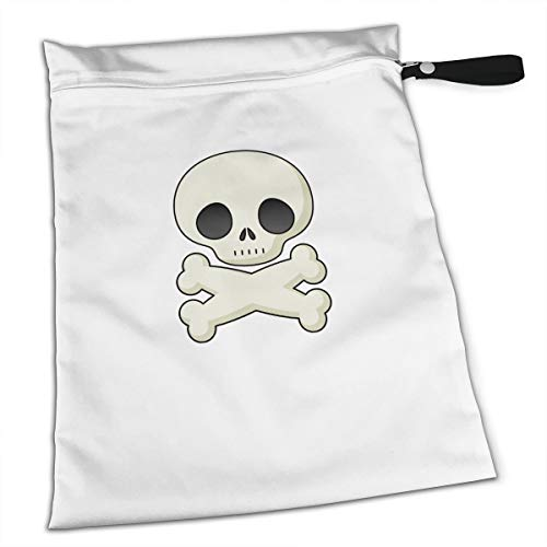 Liusgit Halloween Skeleton Clipart Cute Collection Duffle Gym Bag Shoe Compartment Wet Pocket Waterproof Gear Bikini Tote Dry Beach Swimming Camping Kayak Workout Clothes Weather