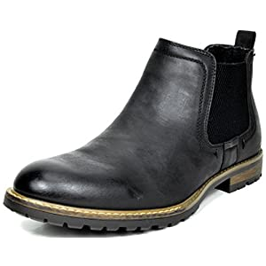 BRUNO MARC NEW YORK Bruno Marc Men's Casual Chelsea Ankle Boots