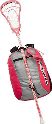 Maverik Lacrosse Twist Beginner Package, Pink (Lacrosse Stick And Eyewear)