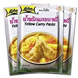 Lobo Thai Spicy Yellow Curry Paste soup mix 50g (pack of 3) from Thailand by Lobo