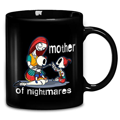 Halloween Mother Of Nightmares Two Daughter Mother's Day Gift Coffee Mug 11oz & 15oz Gift Black Tea Cups -