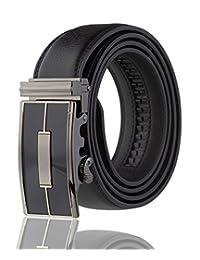 De los hombres Imperial Ratchet piel Vestido Cinturón