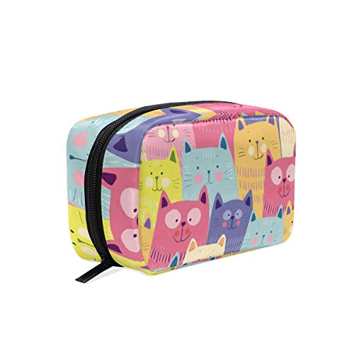 Makeup Cosmetic Bag Colorful Cute Ctas Happy Ranking Portable Travel Train Case Toiletry Bags Organizer Multifunction Storage - Cta Travel Bag